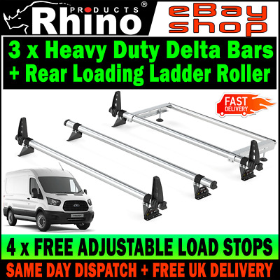 Ford Transit Connect Roof Rack Rhino Delta Bars Load Stops 2 Pairs 2014-2019 Van