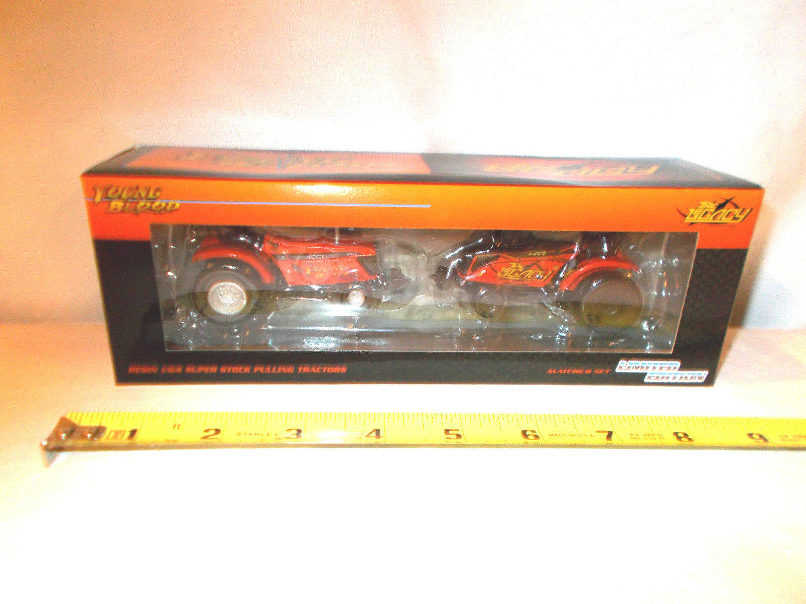Agco Young Blood & The Legacy Pulling Tractor Set By SpecCast  1/64th Scale  !