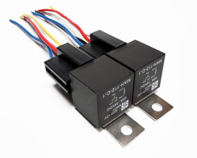 2pk 12v 40a Spdt Bosch Style Relays  U0026 5