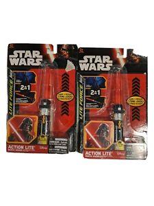 Star Wars Series 7 Lightsaber Light Saber Clip-On Action Lites; Complete Set o