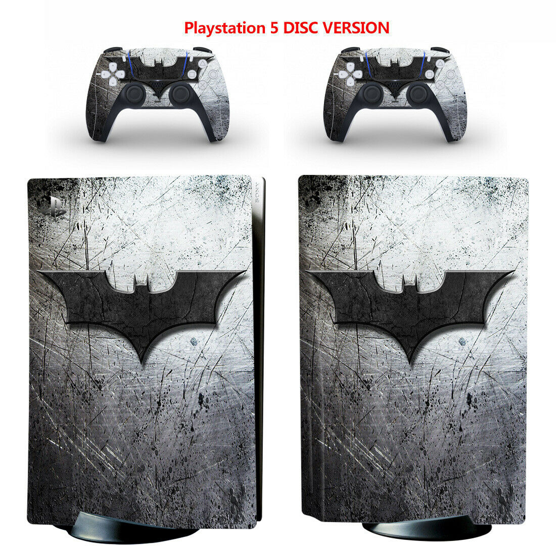 Batman Vinyl Skin Decal Sticker for PS5 Console & 2 Controllers Disc Version