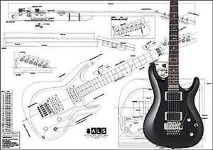 ibanez satriani full scale electric guitar plans 705968803280 ebay. Black Bedroom Furniture Sets. Home Design Ideas