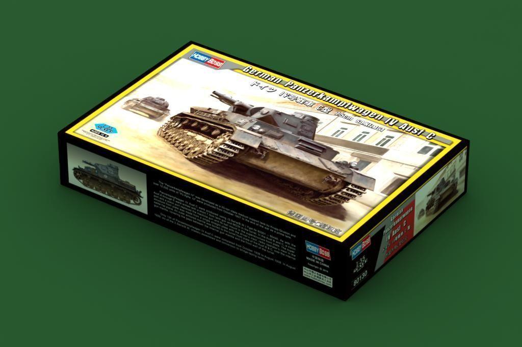 80130 Trumpeter German Panzerkampfwagen IV Ausf C Tank Static 1 35 Scale Model