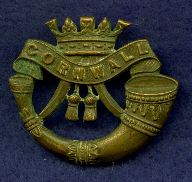 WW2 Great Britain Duke Of Cornwall Light Infantry Cap Badge 40 mm x 46 mm