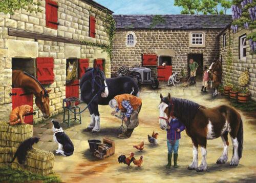 500 Pièces Jigsaw Puzzle-Maréchal-ferrant la visite inhabituelle PIECES La maison de puzzles