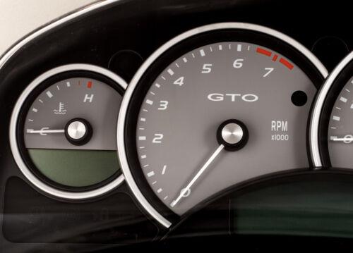 04-06 Pontiac GTO Holden Monaro 200mph Instrument Gauge Cluster Silver Grey