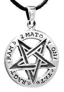 136: Pentagramm Luzifer Church Of Satan Drudenfuß Silber925 Band/kette Anhänger