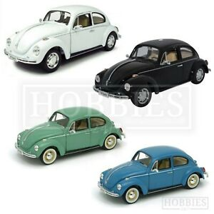 Welly-1-24-VW-Beetle-Diecast-Model-Car-Hard-Tope-Volkswagen-NEX-White-Black-Blue