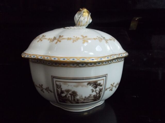 Richard GINORI Italy Florence Fiesole White/Gold LIDDED DISH BOWL candy nut ROSE