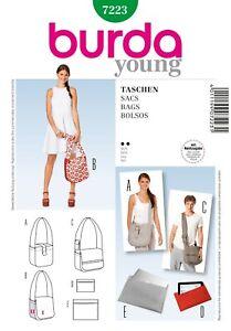 Burda-Style-Schnittmuster-Tasche-Umhaengetasche-Etui-Nr-7223