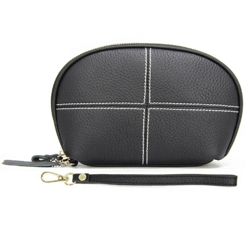 Layer of Cowhide New Ladies Leather Bill Bit Shell Bag Clutch Bag Car Stitc T8H1