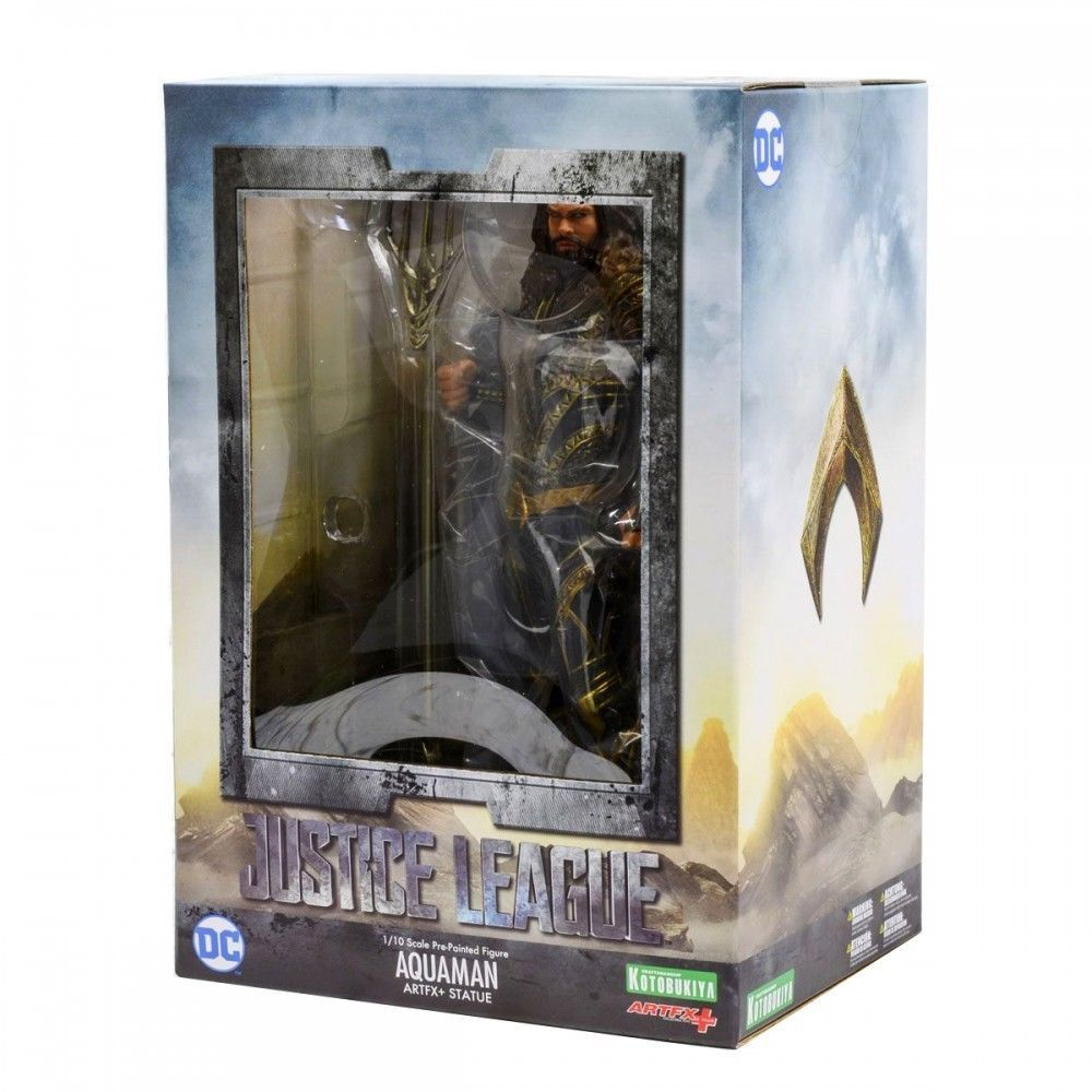 KOTOBUKIYA ARTFX+ JUSTICE LEAGUE AQUAMAN 1/10 SCALE STATUE BVS NEW IN HAND