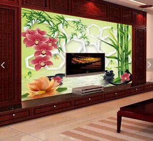 3D-Bamboo-Flowers-738-Wallpaper-Mural-Paper-Wall-Print-Wallpaper-Murals-UK-Carly