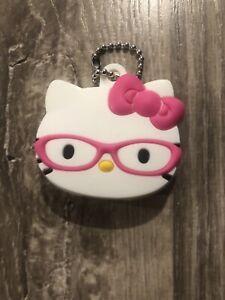 Hello Kitty W// Bow Key Cap Keychain Sanrio Licensed NEW