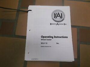 KOBELCO LK300A WHEEL LOADER OPERATORS OPERATION MAINTENANCE MANUAL