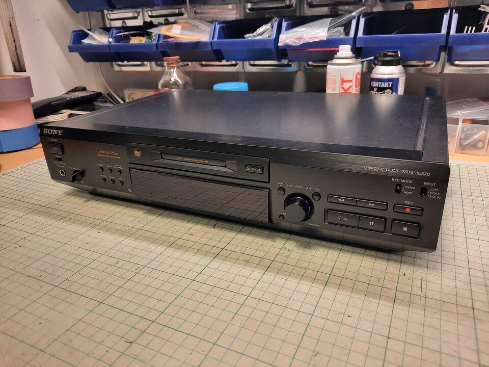 Minidisc afspiller, Sony, MDS-JE520
