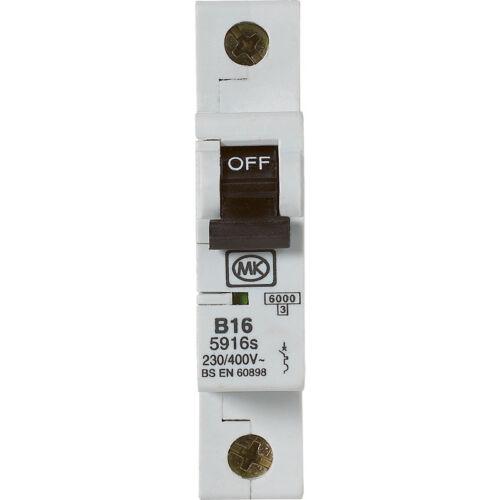 NEW MK MCB 16A SP Type B DIY Electric meter