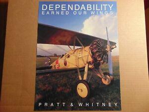 POSTER-Pratt-amp-Whitney-DEPENDABILITY-EARNED-OUR-WINGS-BI-PLANE-20-034-x15-034