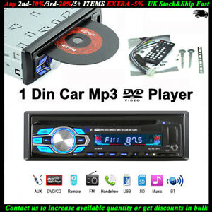 1-Din-Autoradio-DVD-CD-Mp3-Reproductor-USB-Audio-12V-Estereo-Bluetooth-FM-AUX-SD
