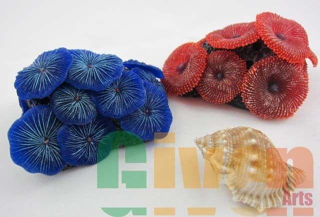 Aquarium Fish Tank Silicone Sea Anemone Artificial Coral Ornament SH217