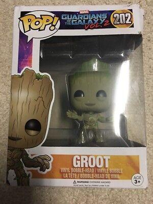 Funko POP Marvel Dancing Groot Bobble Action Figure BOX DAMAGED