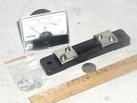 Basic 30 A 30a Dc External Shunt Current Amp Ammeter Analog Panel Meter Usa