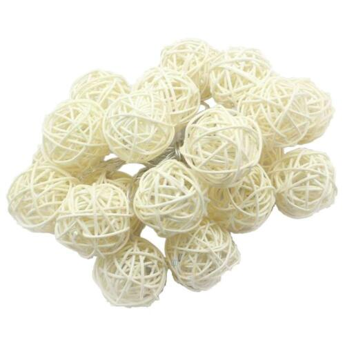 5m 20LED Rattan Ball Wicker String Light Fairy Lamp Wedding Christmas Xmas Decor