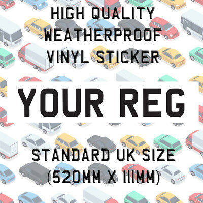 Rear Mini Number Plate Vinyl Sticker Stick On Off Roading Track Race Car Z03