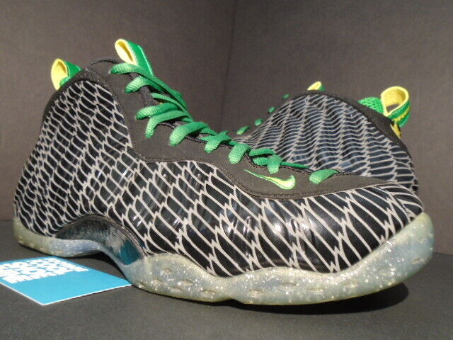 the best attitude b8957 947c8 NIKE AIR FOAMPOSITE ONE PREMIUM UO QS OREGON DUCKS BLACK YELLOW GREEN  SUPREME 11