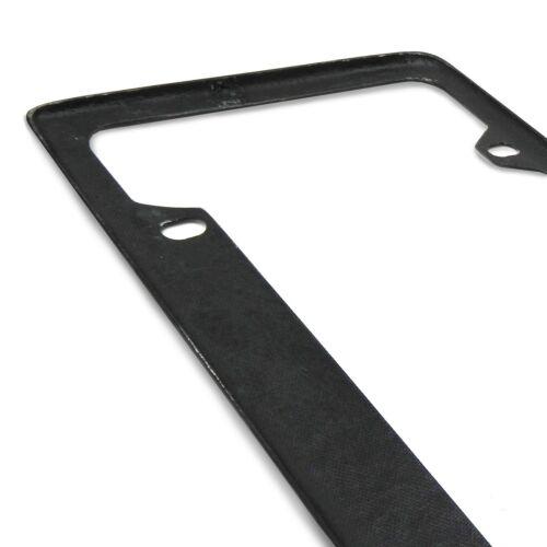 Honda Civic Blue Racing Stripe Black Real Carbon Fiber 50 States License Frame