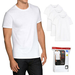 Fruit of The Loom Men's 3 Pack Dual Defense Tag-Free Crew Neck T Shirts