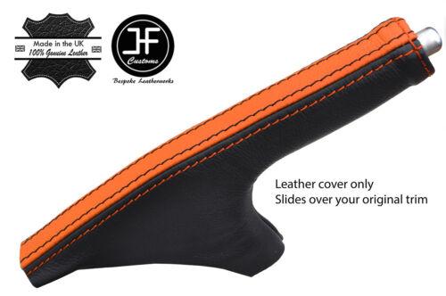 Black /& Orange à Rayures Top Grain Leather Slim Frein à Main Gaiter pour 350Z Z33 02-09
