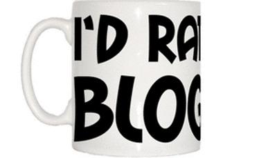 I'd Rather Be Blogging Mug