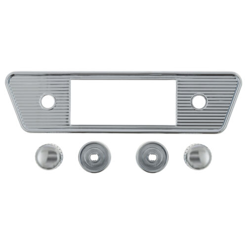 "7.5 x 2.25/"" Ghia Chrome NEW RetroSound Face plate /& Knob kit W 190 x H 56mm"