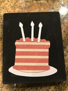 Image Is Loading Sizzix Large Red Original Die Cutter BIRTHDAY CAKE