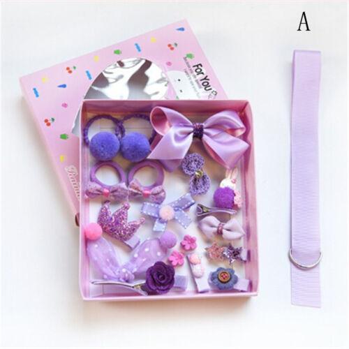 18Pcs Kids Infant Haarnadel Baby Mädchen Bowknot Blumen Motive Haarspange Set HH