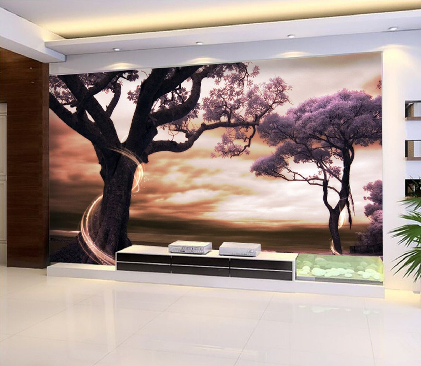 3D  trunk Painted Wall Paper Print Decal Wall Deco Indoor wall Mural