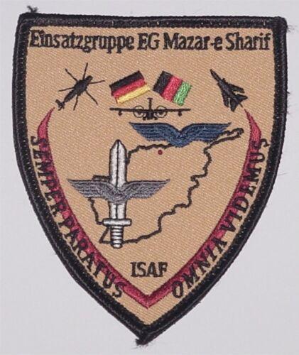 Aufnäher Patch ISAF Einsatzgruppe EG Mazar-e Sharif ..........A2362K