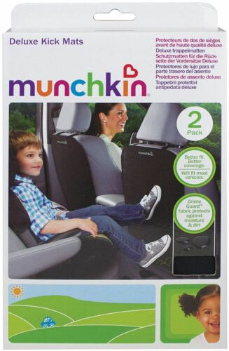Munchkin DELUXE KICK MATS Toddler//Child Car Travel Seat Protector BN 2 PACK
