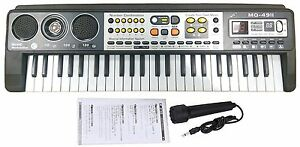 49-Key-Digital-Music-Electronic-Keyboard-amp-Microphone-Electric-LED-Piano-Organ