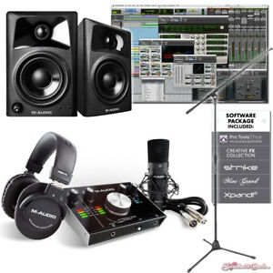M-Audio-M-Track-2x2-Vocal-Studio-Pro-Tools-Studio-Production-AV32-Package-Bundle