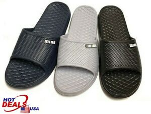 39a989e260ee32 New Man Slip On Sport Shoes Slipper Slide Sandal Flip Flop Shower ...