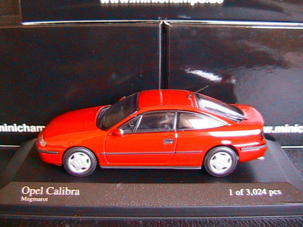 OPEL CALIBRA 2.0I 1990 MAGMArouge MINICHAMPS 400045720 1 43 ROUGE rouge rouge rouge