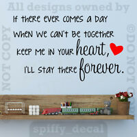 Winnie The Pooh Heart Forever Quote Vinyl Wall Decal Decor Sticker Nursery