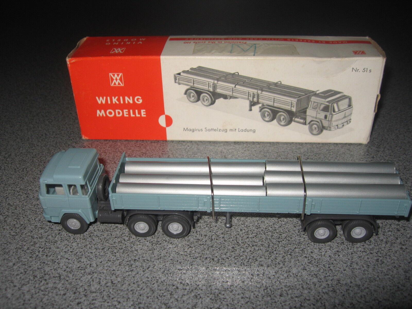 Wiking Magirus 235 D Röhrensattelzug grünblau
