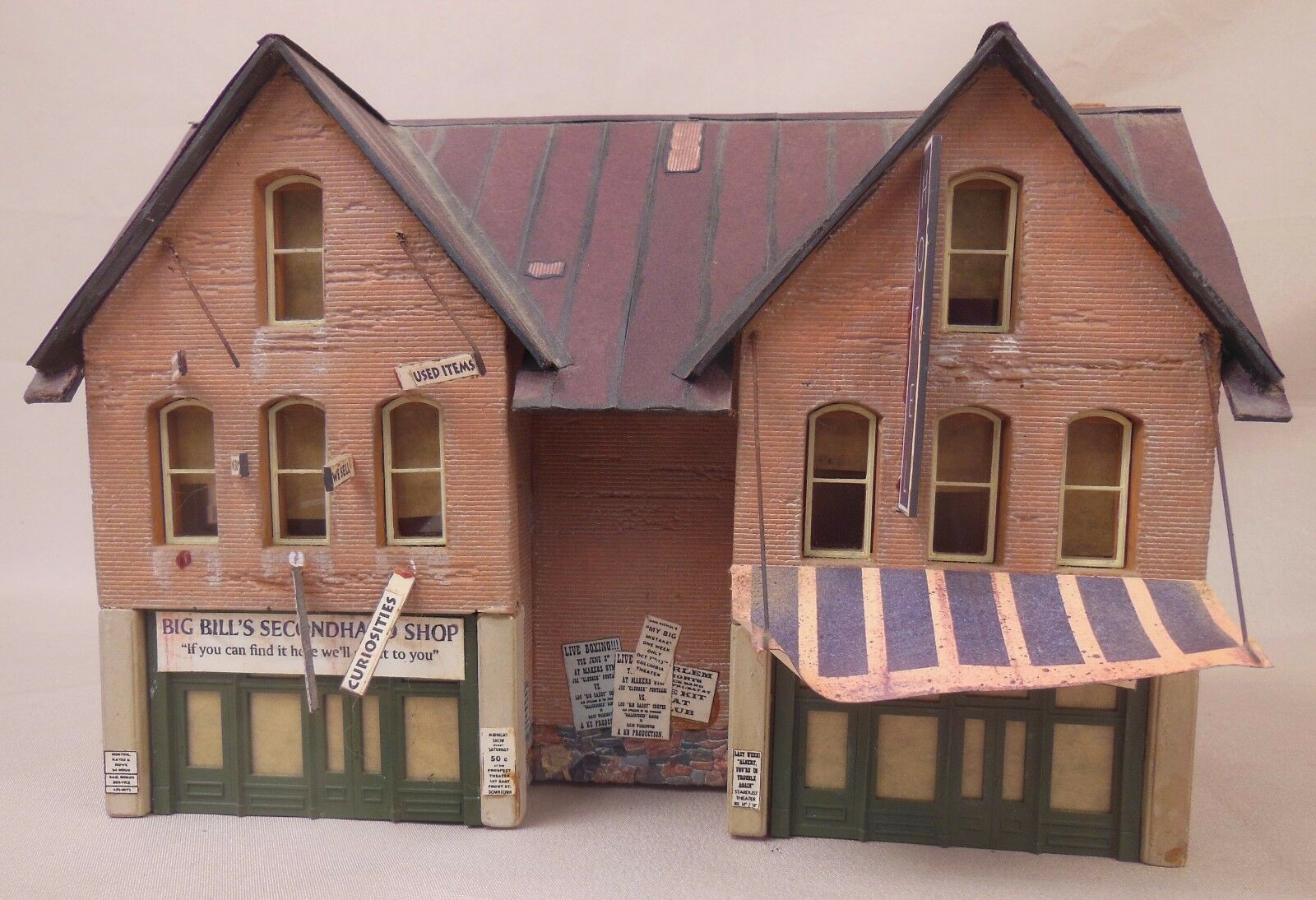 HO SCALE DOWNTOWN DECO ADDAMS ST PART 4 CRAFTSMAN BUILT LAYOUT STRUCTURE  426