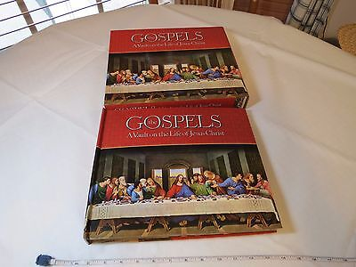 The Gospels A vault of the life of Jesus Christ book RARE last supper prayer