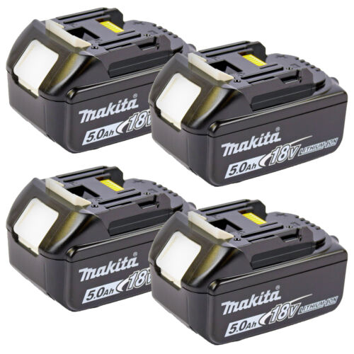 4 pièces Makita Batterie bl1850b 197280-8 18.0 V 5,0 Ah Li-Ion