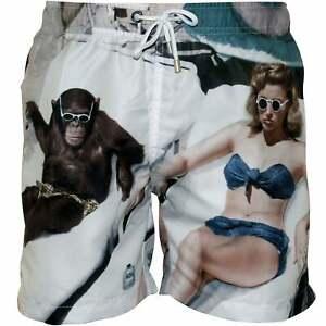 e55200060b Image is loading Franks-Bathers-Print-Men-039-s-Swim-Shorts-