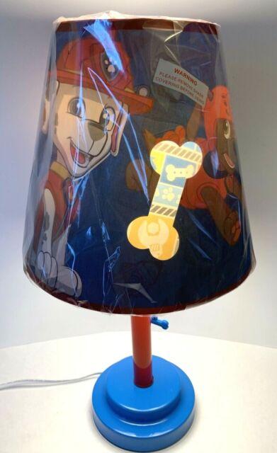 Nickelodeon Paw Patrol Table Lamp with Die Cut Lamp Shade